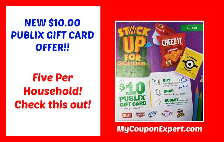 NEW PUBLIX $10.00 Gift Card Rebate!  Check this out!!