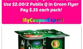 Dannon Activia 4 packs just $.35 for some at Winn Dixie starting 8/16!!