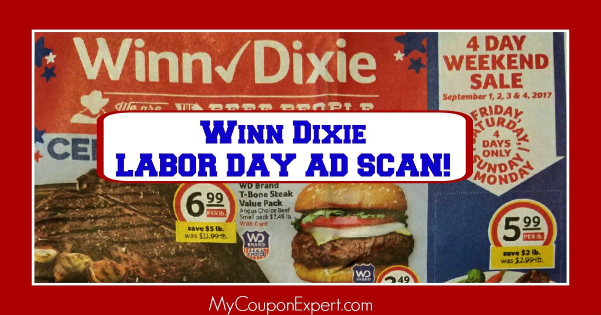 Winn Dixie LABOR DAY Ad Scan Sneak Peek!  HUGE AD!