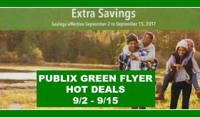 Publix GREEN Advantage Flyer Deals for September 2nd – 15th