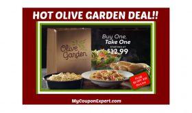 OLIVE GARDEN BOGO DEAL!!  Plus a $5.00 off $30.00 Coupon Online!!