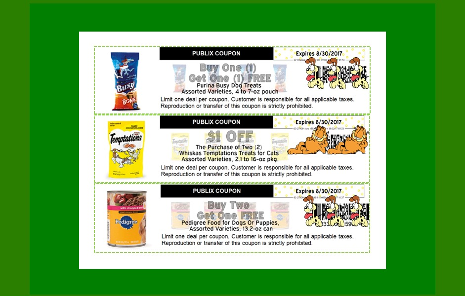 NEW PUBLIX Pet Coupons for August!  Printable Too!!