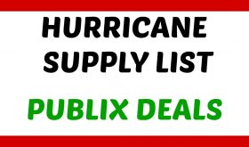 Hurricane Supply Items that are on sale at Publix NOW