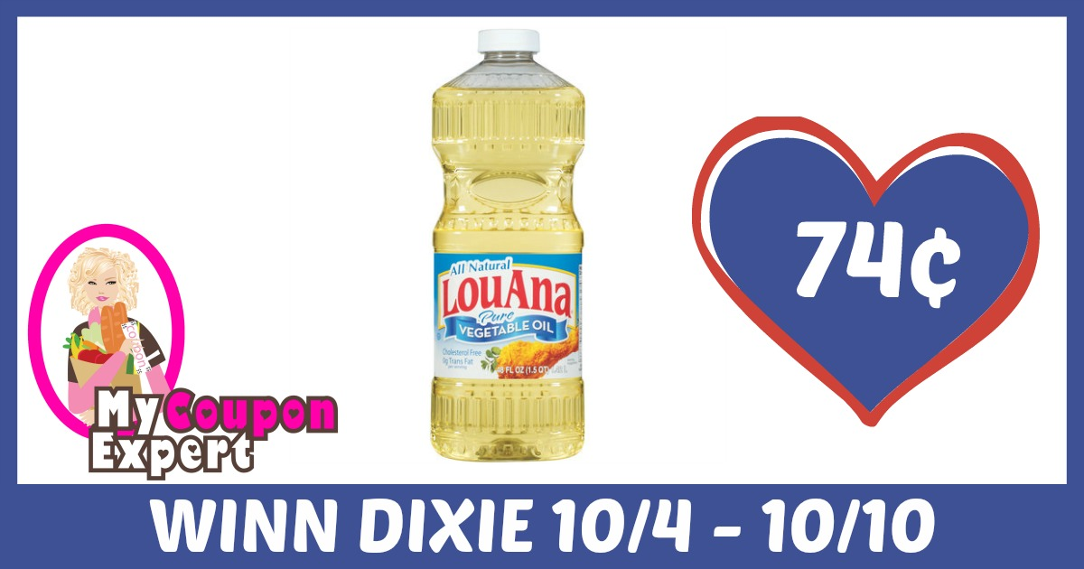 Lou Ana Vegetable Oil Only 74¢ each after sale and coupons ...