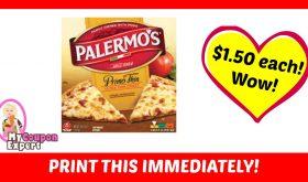 HOLY TOLEDO!  Palermo Pizza only $1.50 each!  Print IMMEDIATELY!