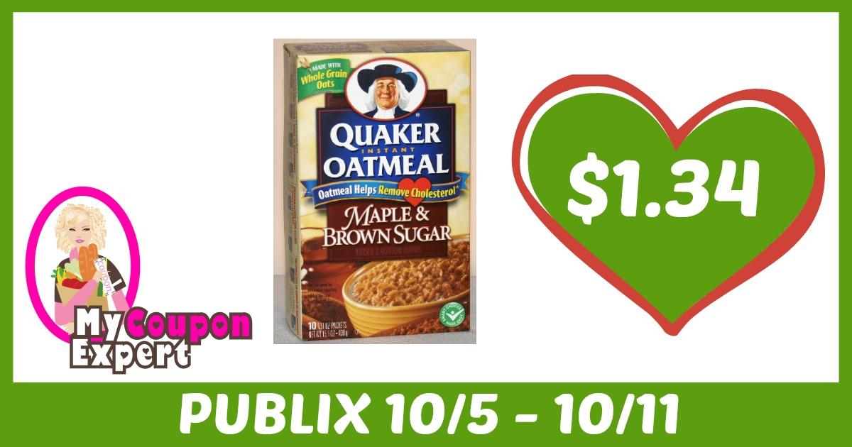 Quaker oatmeal coupons october 2018