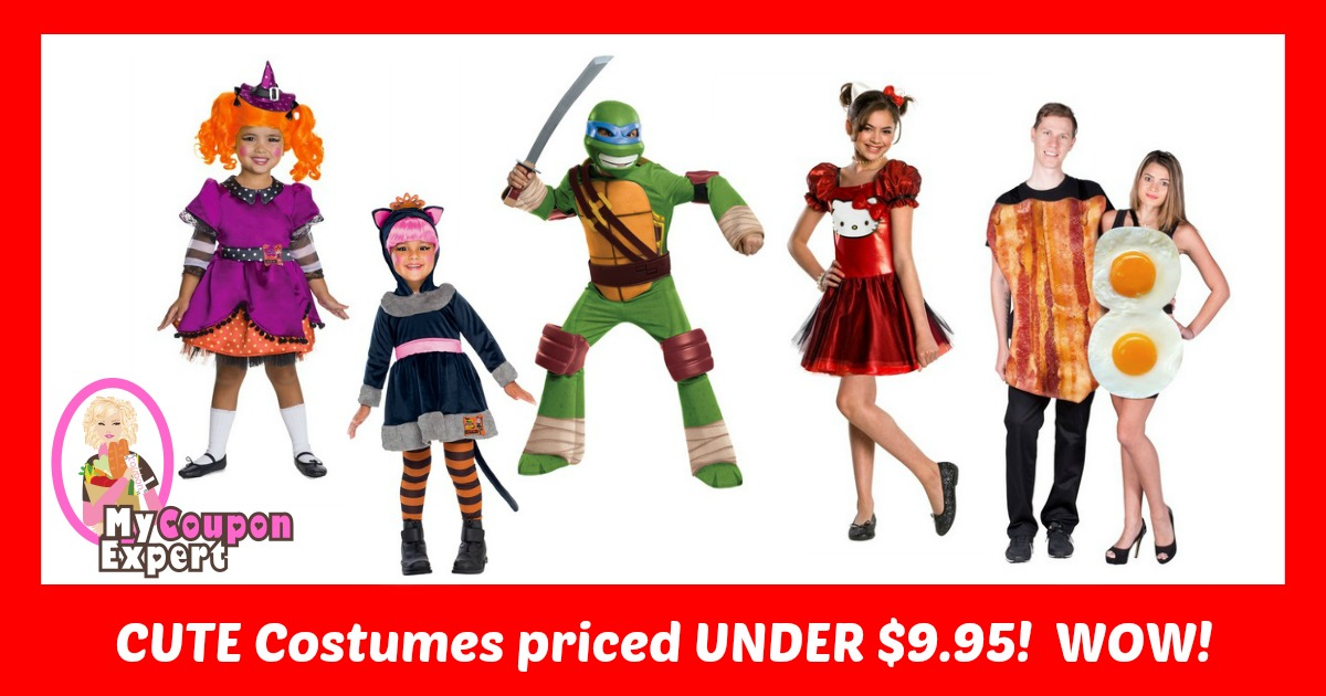 Cute Costumes under $9.95 plus FREE shipping and 25% off code!
