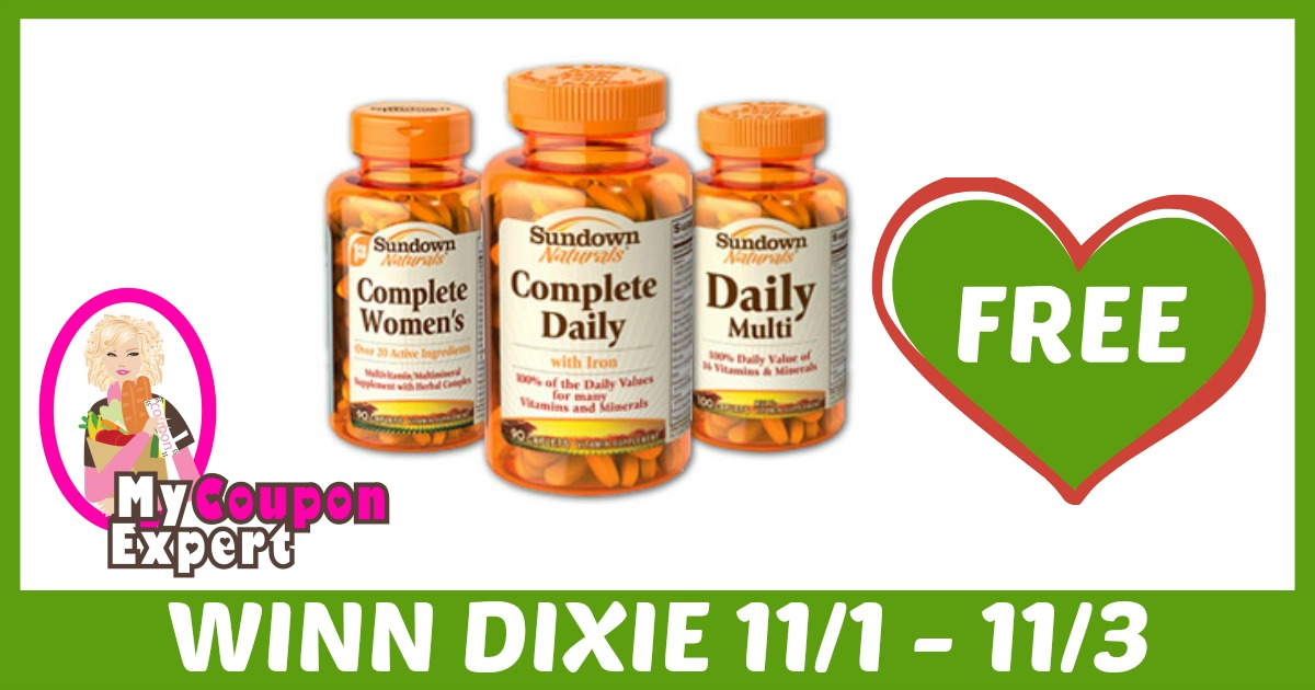 FREE Sundown Vitamins after sale and coupons