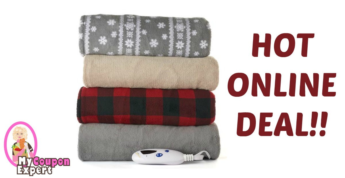 Heated Plush Throw Under $25 – Reg. $80!