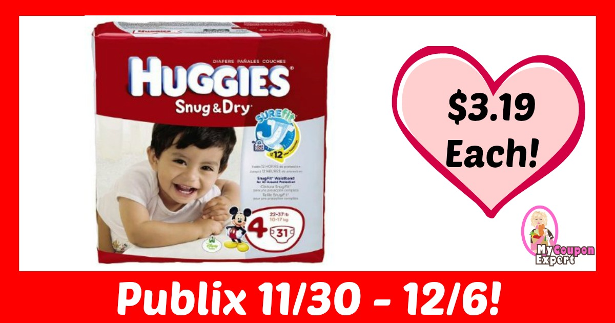 WHAT?! Huggies Diapers Only $3.19 at Publix!