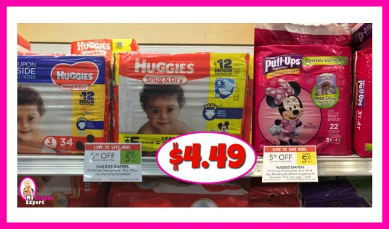 Huggies Diapers Only $4.49 each after sale and coupons