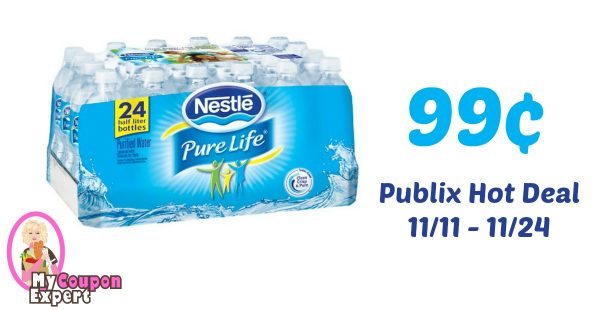 8bced5f109 Nestle Pure Life Water 24 pk Only 99¢ each after sale and coupons ·