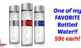 VOSS Artisan Water at Publix just 59¢ each bottle!  My FAVE!