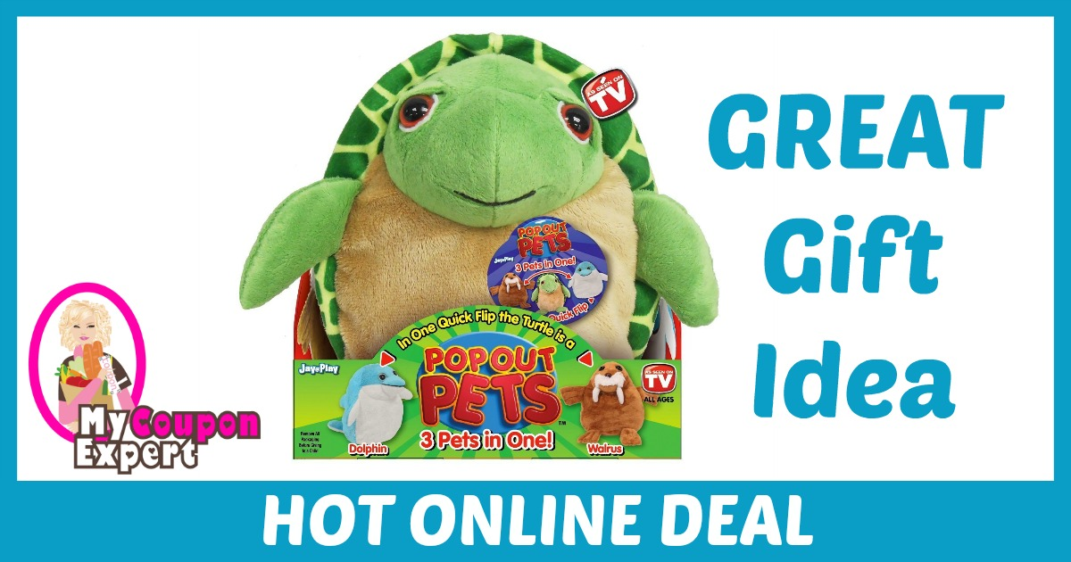 Hot Holiday Gift Idea! 3 Stuffed Animals in One, Reversible Plush Toy UNDER $8.00 (60% Savings!!)