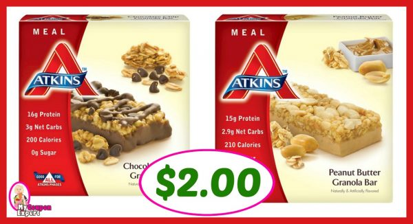 image relating to Atkins Coupon Printable identify Publix Scorching Package Notify! Atkins Dinner Bar Merely $2.00 every immediately after