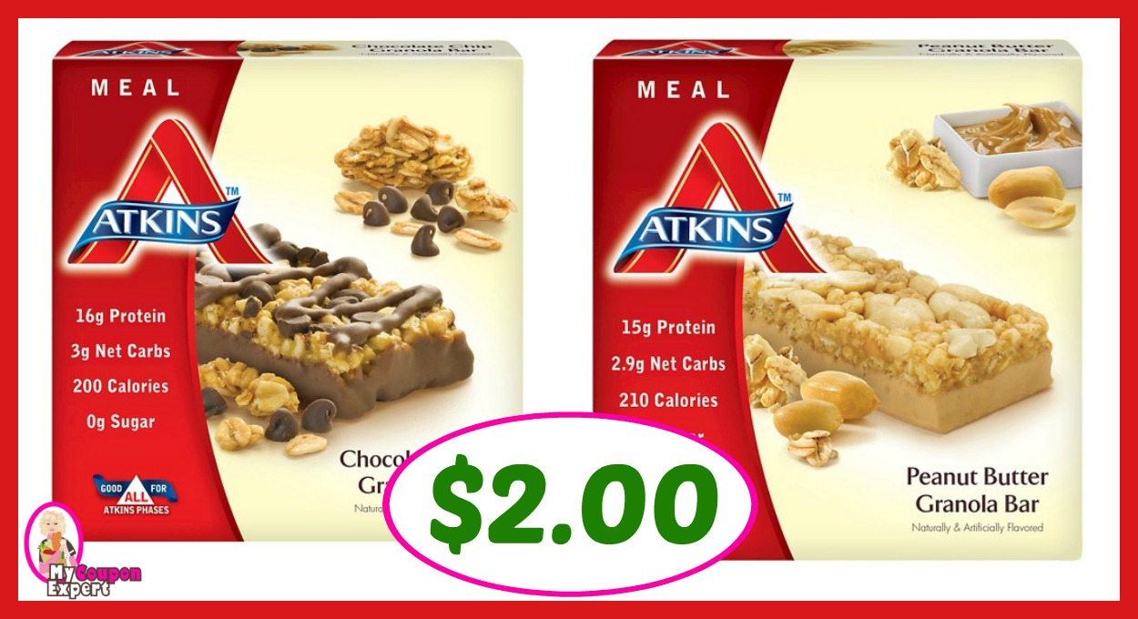 picture relating to Atkins Printable Coupons named Publix Warm Bundle Warn! Atkins Evening meal Bar Basically $2.00 every single right after