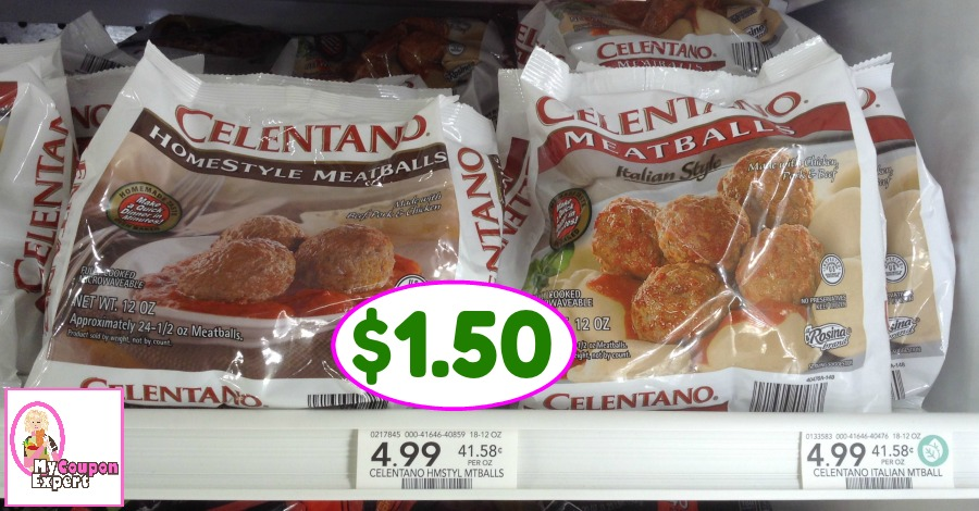 Celentano Meatballs just $1.50 each at Publix!!