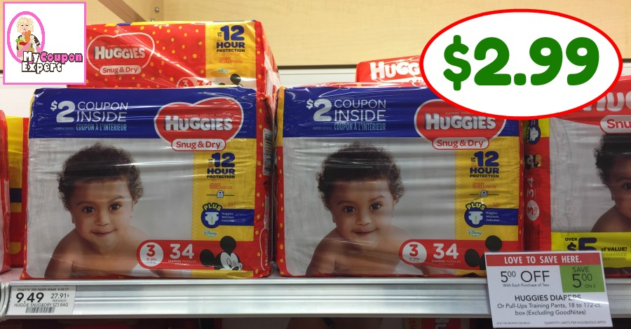 HUGE DIAPER DEAL at Publix starting May 23rd!  $2.99 per pack!