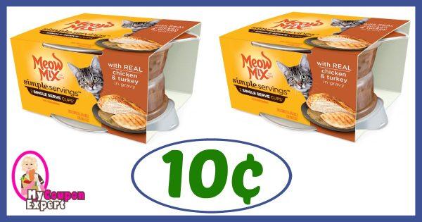 Publix Hot Deal Alert! Meow Mix Simple Servings Cat Food
