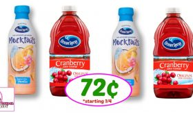 AMAZING Ocean Spray Juice & Mocktails Deal at Publix starting 1/4!