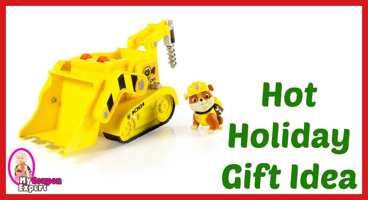 Hot Holiday Gift Idea! Paw Patrol Rubble's Lights and Sounds Construction Truck Vehicle Only $12.45 – 50% Savings!!