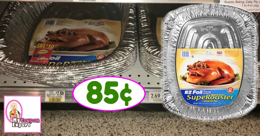 Hefty EZ Foil SupeRoaster just 85¢ at Publix!!  WOW!