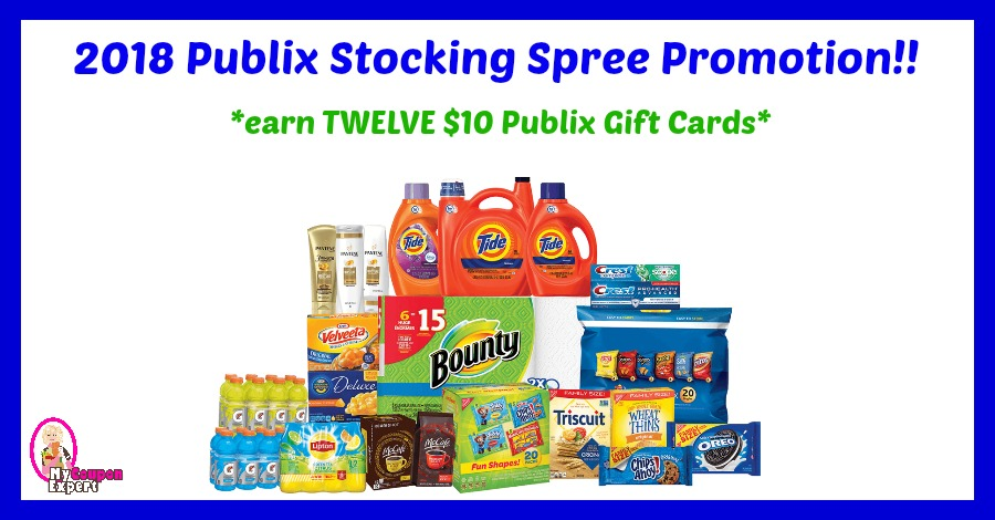 Publix Stocking Spree Program!  Get a $10 Publix Gift Card wyb $50!!