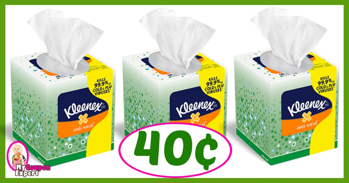 Winn Dixie Hot Deal Alert! Kleenex Facial Tissue Only 40¢ each after sale and coupons