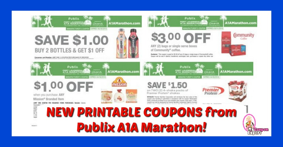 LOOK!  Publix A1A Marathon Printable Coupons!!  Love it!