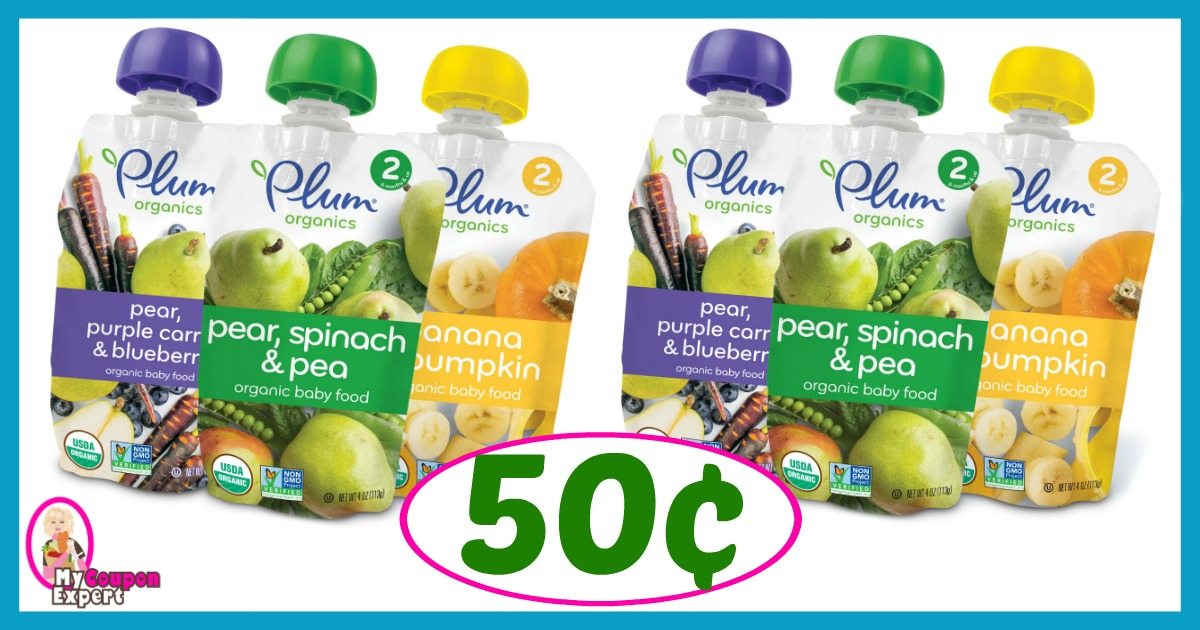 picture about Plum Organics Printable Coupon identified as Plum Organics Pouches exactly 50¢ at Winn Dixie! ·