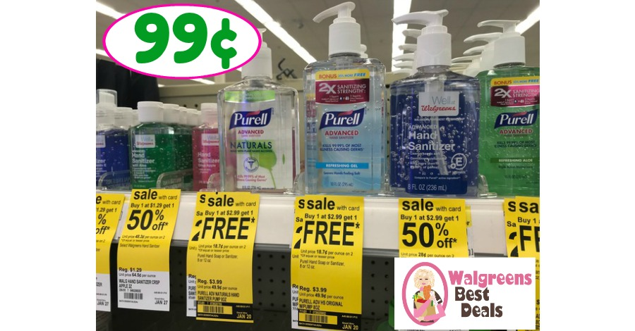 Purell Sanitizer just 99¢ at Walgreens!!  Check it out!