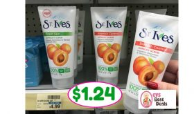 CVS Hot Deal Alert!! St. Ives Scrub Only $1.24 after sale and coupons