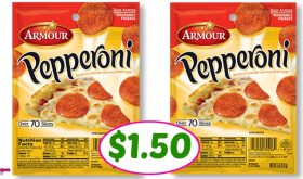 Armour Pepperoni just $1.50 at Publix!