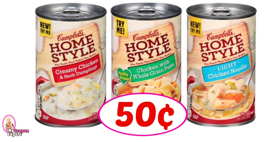 picture about Campbell Soup Printable Coupon known as Campbells Homestyle Soup specifically 50¢ at Winn Dixie! ·