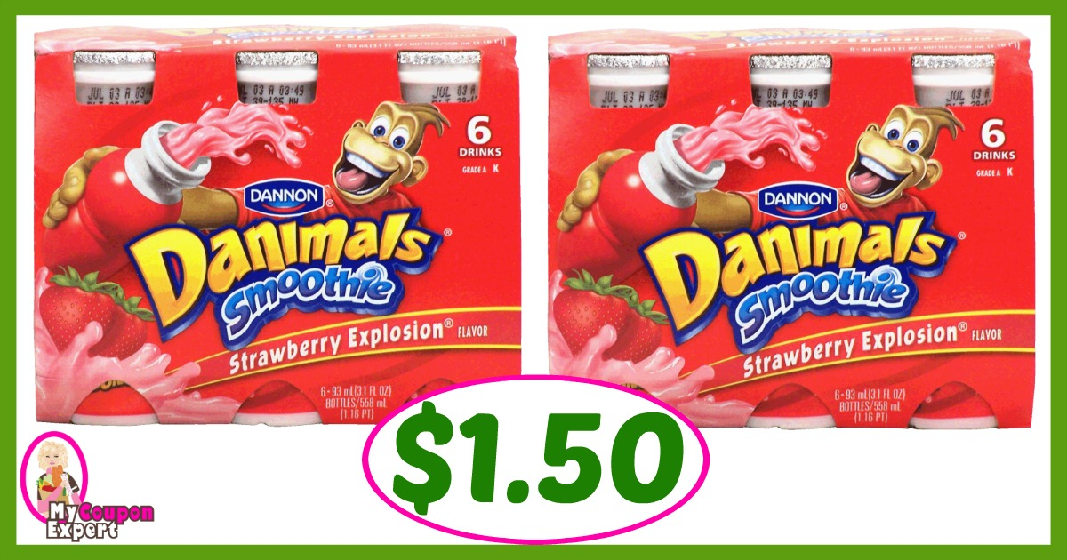 Winn Dixie Hot Deal Alert! Dannon Danimals Smoothies Only $1.50 after sale and coupons