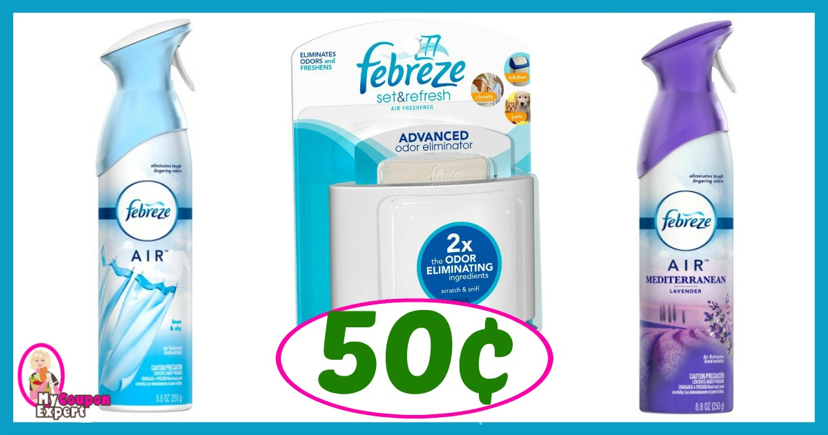 Winn Dixie Hot Deal Alert! Febreze Products Only 50¢ after sale and coupons