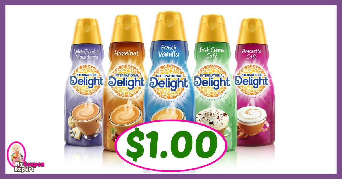 International Delight Creamer, 32 oz $1.00 each at Winn Dixie for some!!