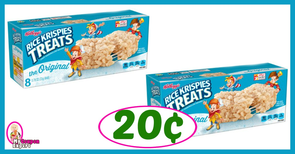 Winn Dixie Hot Deal Alert! Kellogg's Rice Krispies Treats Only 20¢ after sale and coupons