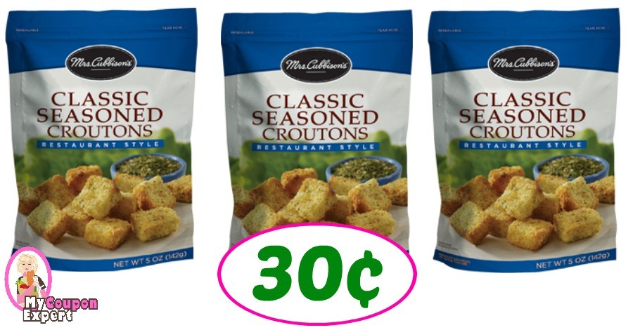 Mrs Cubbison's Croutons just 30¢ each at Publix!!