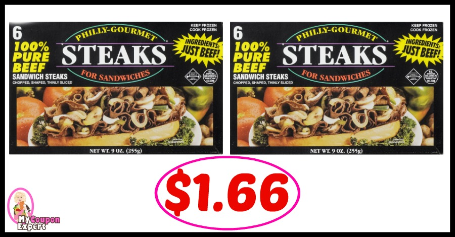 Great deal on Philly Gourmet Steaks just $1.66 at Winn Dixie!