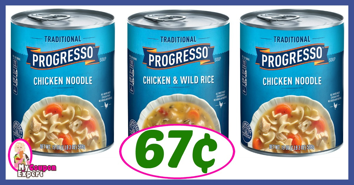 Progresso Soup is on sale 3/$4 at Publix this week, so you pay 83¢ per can after coupon if your store doubles! Filed Under: Coupons, Deals Tagged With: progresso coupon, progresso soup (All posts may contain affiliate links and/or have sponsored content.