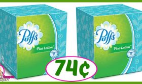 CVS Hot Deal Alert!! Puffs Facial Tissues Only 74¢ after sale and coupons