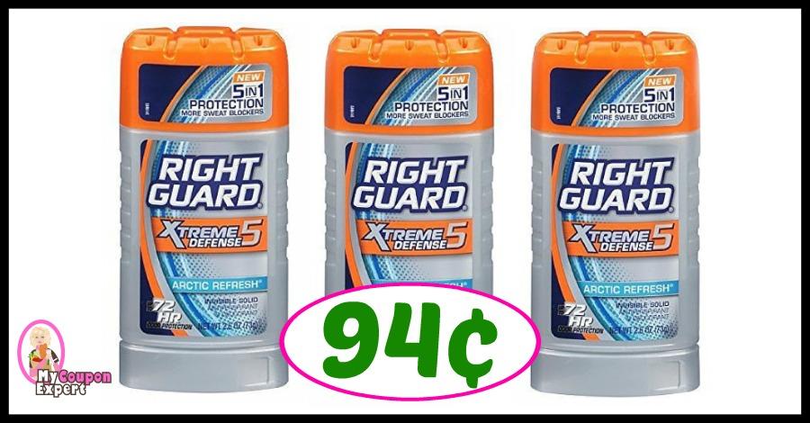 Right Guard Deo just 94¢ at Publix!
