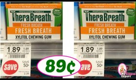 Publix Hot Deal Alert! TheraBreath Gum just 89¢ each!!