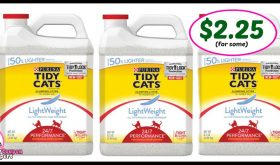 *UPDATED* Tidy Cats Lightweight Litter just $2.25 for some!