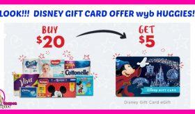 Disney Gift Card Offer wyb Huggies Diapers!!!