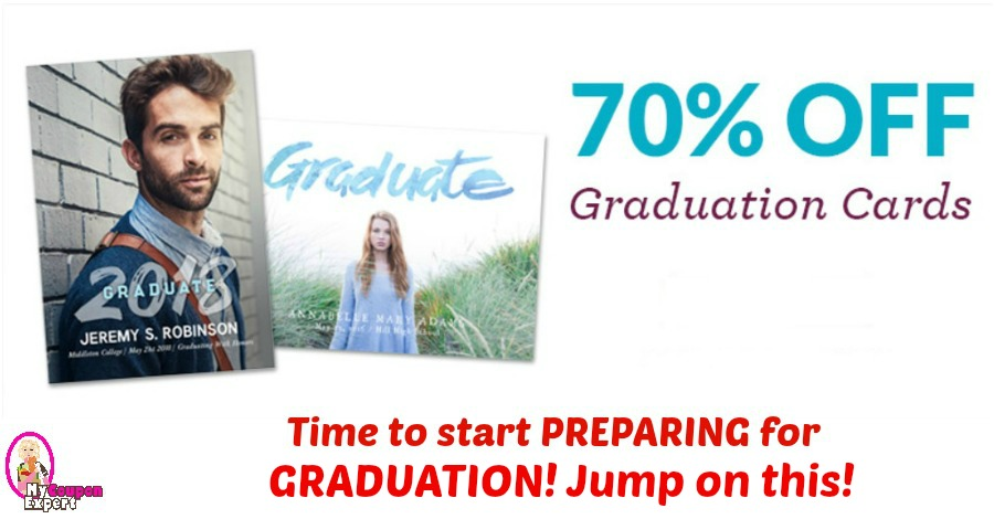 Graduation Cards 70% off RIGHT NOW! This is a great deal!