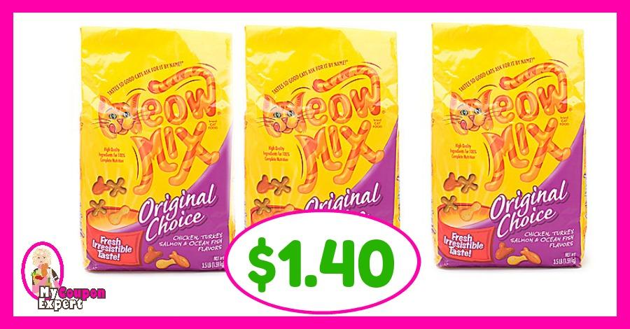 Meow Mix Cat Food just $1.40 each at Winn Dixie!