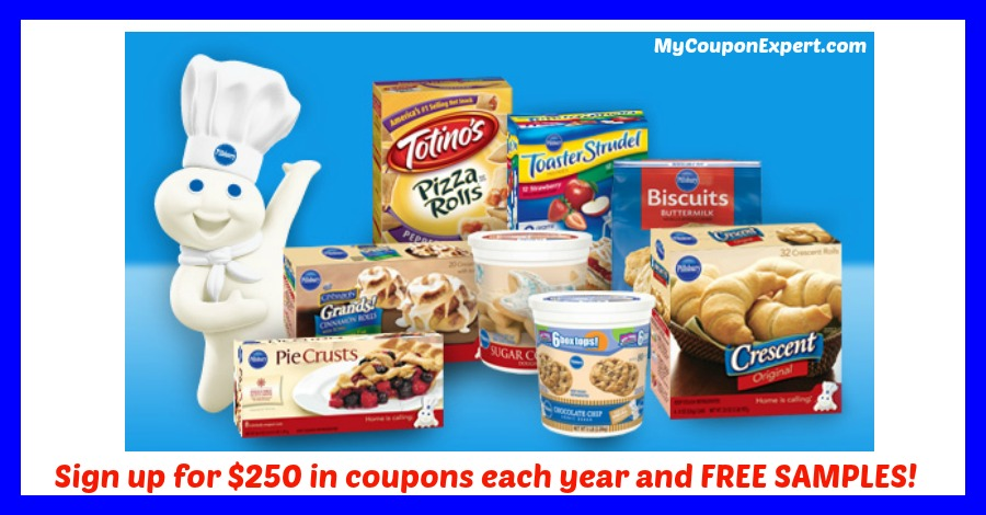 Look!  Sign up with Pillsbury for HOT COUPONS & Samples!!