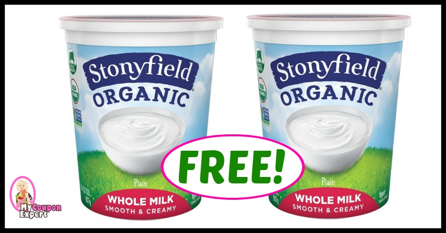 Stonyfield BIG 32 oz Yogurt at Publix for FREE!!